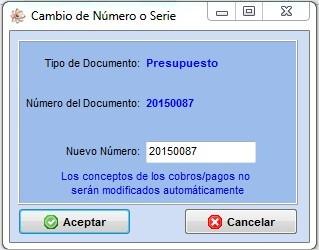 cambio numero documento