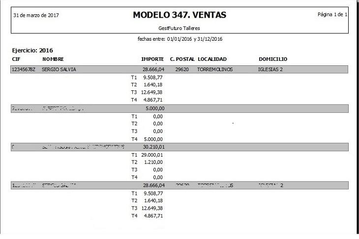 Programa para taller: Modelo 347