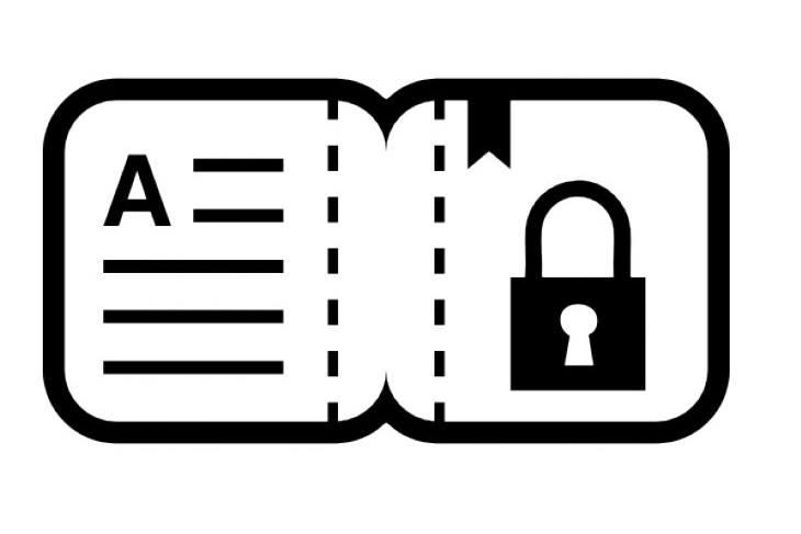 Icono protección de datos en el programa para taller de automoción