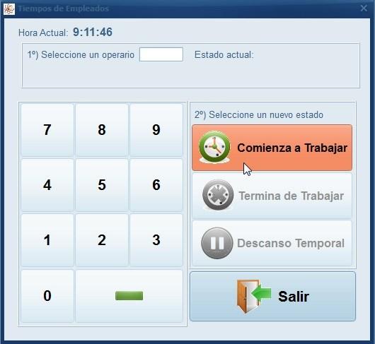 Imagen del teclado de registro de entradas y salidas en los programas de facturacion de Futuro Informatica