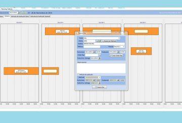 Pantalla del planning del doftware de taller de Futuro Informática